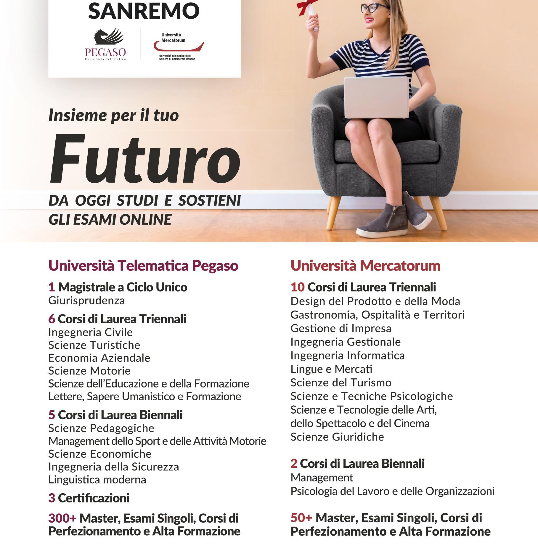 Corsi Di Laurea Unipegaso Sanremo